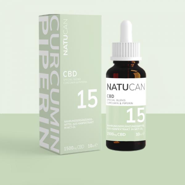 Natucan CBD Öl mit Curcumin und Piperin