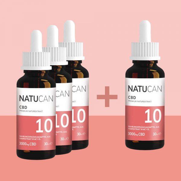 Natucan CBD Öl 10% 30ml 4 für 3 Sparpreis