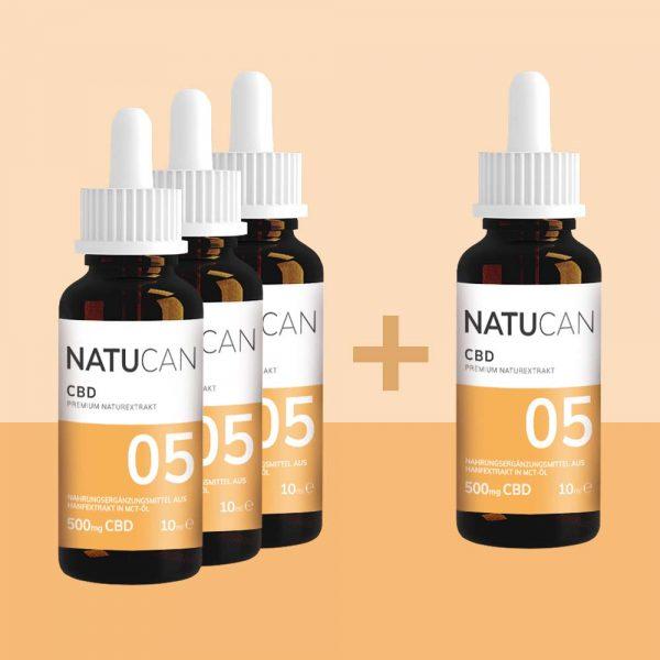 Natucan CBD Öl 5% 10ml 4 für 3 Sparpreis