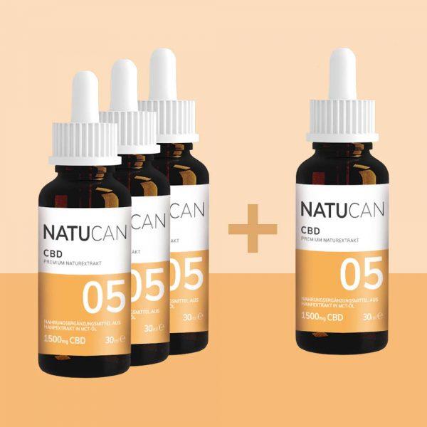 Natucan CBD Öl 5% 30ml 4 für 3 Sparpreis