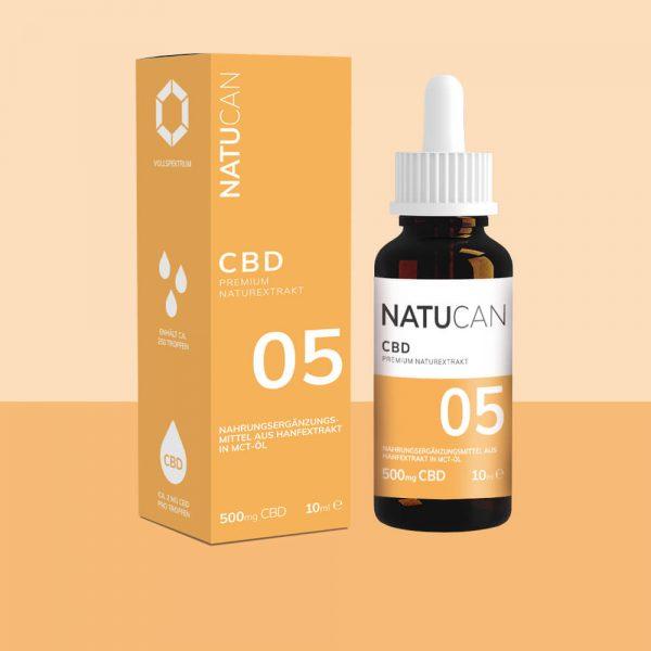 Natucan CBD Öl 5% 500mg 10ml
