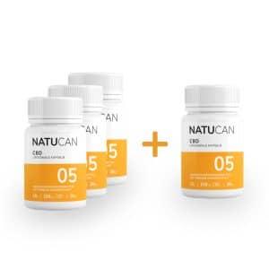 [4 für 3 Aktion] Liposomale CBD-Kapseln mit 5mg Vollspektrum-Extrakt